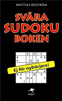 Svåra sudokuboken