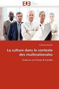 La Culture Dans Le Contexte Des Multinationales