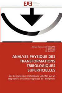 Analyse Physique Des Transformations Tribologiques Superficielles