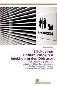 Effekt Einer Botulinumtoxin a Injektion in Den Detrusor