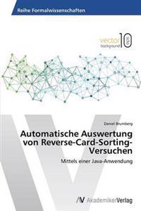 Automatische Auswertung Von Reverse-Card-Sorting-Versuchen