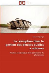La Corruption Dans La Gestion Des Deniers Publics a Cotonou