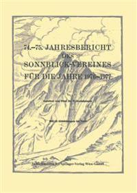 Jahresbericht Des Sonnblick-vereines Für Die Jahre 1976-1977