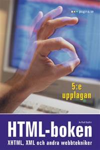 HTML-boken: XHTML, XML och andra webbtekniker, 5e upplagan