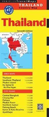 Thailand Travel Map Periplus Editions Kartta 9780794607081