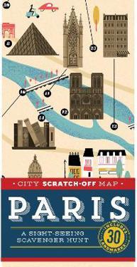 City Scratch-Off Map Paris