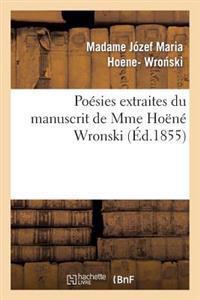 Po�sies Extraites Du Manuscrit de Mme Ho�n� Wronski
