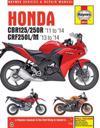 Honda Cbr125r, Cbr250r & Crf250l/m, '11-'14 Haynes Repair Manual