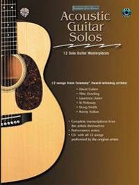 Acoustic Masterclass: Acoustic Guitar Solos, Book & CD