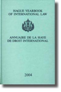 Hague Yearbook of International Law/ annuaire De La Haye De Droit International