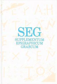 Supplementum Epigraphicum Graecum Consolidated Index for Volumes XXXVI-XLV (1986-1995)