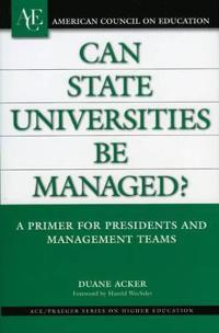 Can State Universities Be Managed?
