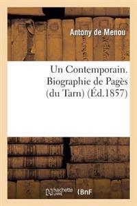 Un Contemporain. Biographie de Pag�s (Du Tarn)