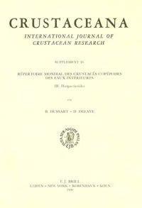 Repertoire Mondial Des Crustaces Copepodes Des Euax Interieures, III Harpacticoides