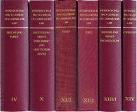 International Encyclopedia of Comparative Law, Volume X