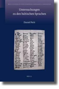 Untersuchungen Zu Den Baltischen Sprachen