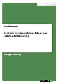 Willirams Prosaparaphrase. Referat Und Lernzusammenfassung