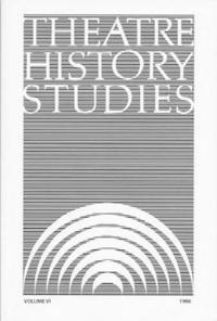 Theatre History Studies 1986