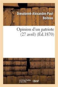 Opinion D'Un Patriote (27 Avril)