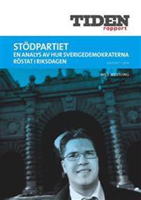 Stödpartiet : en analys av hur Sverigedemokraterna röstat i riksdagen