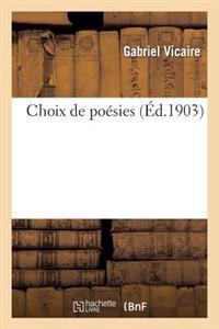 Choix de Poesies