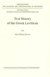 Text History of the Greek Leviticus