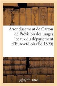 Arrondisssement de Carton de Prevision Des Usages Locaux Du Departement D'Eure-Et-Loir