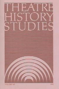 Theatre History Studies 1992