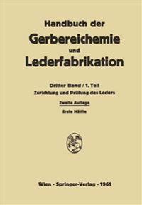 Zurichtung Und Prüfung Des Leders