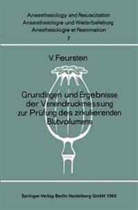 Grundlagen Und Ergebnisse Der Venendruckmessung Zur Pr fung Des Zirkulierenden Blutvolumens