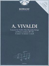 Vivaldi: Concerto in a Minor for Treble (Alto) Recorder Strings and Basso Continuo Rv108
