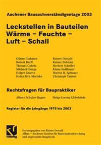 Aachener Bausachverstaigentage 2003