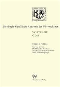 Text Und Kontext: Die Mittelalter-Philologie Zwischen Gesellschftsgeschichte Und Kulturanthropologie
