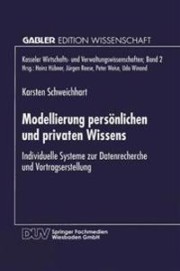Modellierung Pers nlichen Und Privaten Wissens