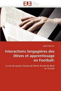 Interactions Langagi�res Des �l�ves Et Apprentissage En Football