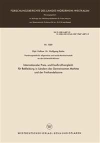 Internationaler Preis- Und Kaufkraftvergleich F r Bekleidung in L ndern Des Gemeinsamen Marktes Und Der Freihandelszone