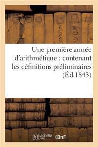 Une Premi�re Ann�e d'Arithm�tique