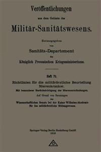 Richtlinien Fur Die Militararztliche Beurteilung Nierenkranker