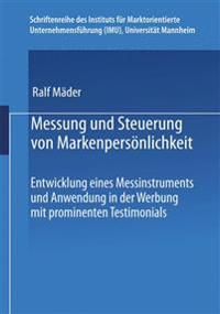 Messung Und Steuerung Von Markenpersönlichkeit