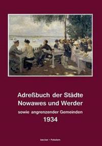 Adressbuch Der Stadte Nowawes Und Werder Fur 1934