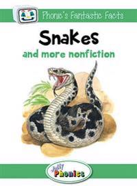 Snakes and More Nonfiction: Jolly Phonics Readers: In Precursive Letters