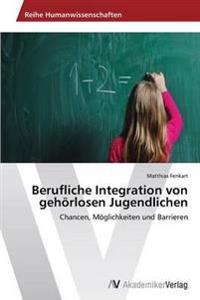 Berufliche Integration Von Gehorlosen Jugendlichen