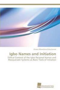 Igbo Names and Initiation