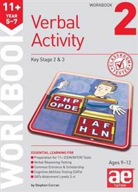 11+ verbal activity year 5-7 workbook 2 - including multiple choice test te