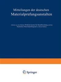 Mitteilungen Der Deutschen Materialpr fungsanstalten