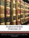 Publications, Volume 27
