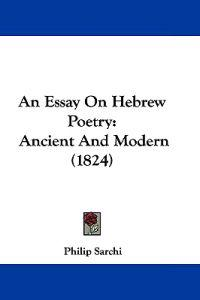 An Essay on Hebrew Poetry