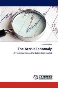 The Accrual Anomaly