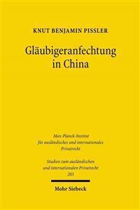 Glaubigeranfechtung in China