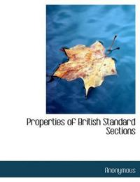 Properties of British Standard Sections